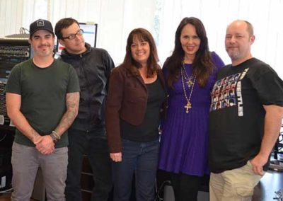 Members of the Hay House Radio Team with Doreen Virtue, author and founder of Angel Therapy