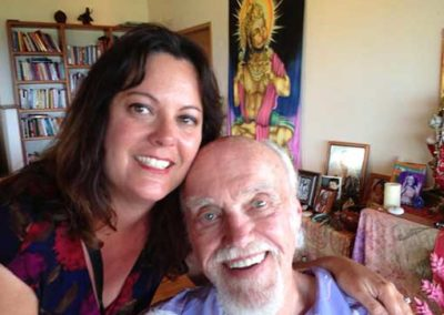 with Ram Dass spiritual teacher and author of Be Here Now in Maui, 2013