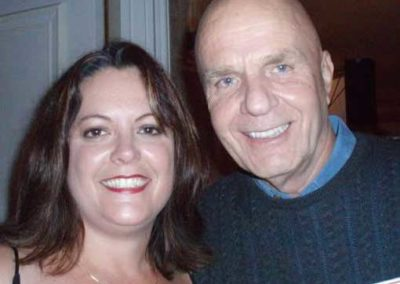 with Dr. Wayne Dyer at Louise Hay's 80th birthday party